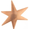 Metal Blank 24ga Copper Star 29mm No Hole
